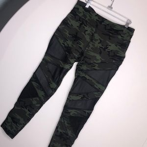 The Warm Up by Jessica Simpson Camo Mesh Leggings